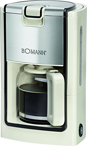 Bomann KA 1565 CB Kaffeeautomat, schwarz/creme/edelstahl