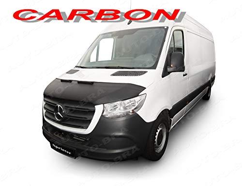 Auto-Bra AB3-00488 Carbon Optik kompatibel mit MB Mercedes-Benz Sprinter Bj. ab 2018 Haubenbra Steinschlagschutz Tuning