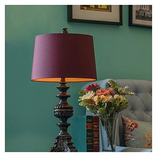 Iluminación Tradicionales lámparas de mesa de noche dormitorio rústico escritorio de la tabla regalo Lámparas Sala de estar Estudio Oficina minimalista lámparas Mesilla Lamparas (Color : Brown)