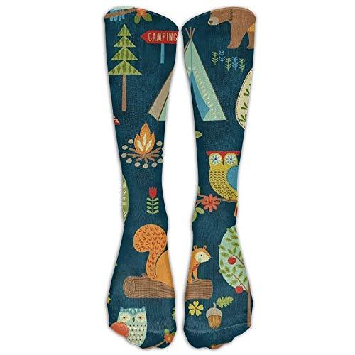 wwoman Bier-Eichhörnchen-Eulen-Baum-athletische Schlauchstrümpfe der Männer klassische kniehohe Socken der Männer Sport lange Socke eine Größe