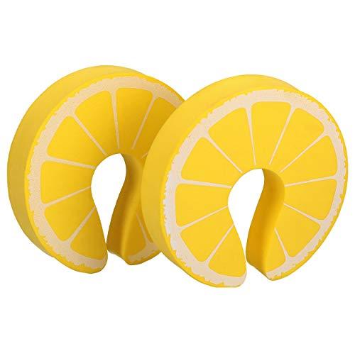Mumbi deurstopper klembescherming voor deuren en ramen, kunststof, geel, citroen