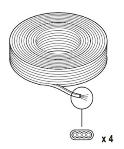 Scame Datatel telefoonkabel, plat, 4-polig, zwart, 100 m