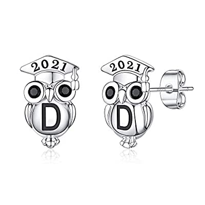 Graduation Gifts for Her Owl Earrings, S925 Ste...