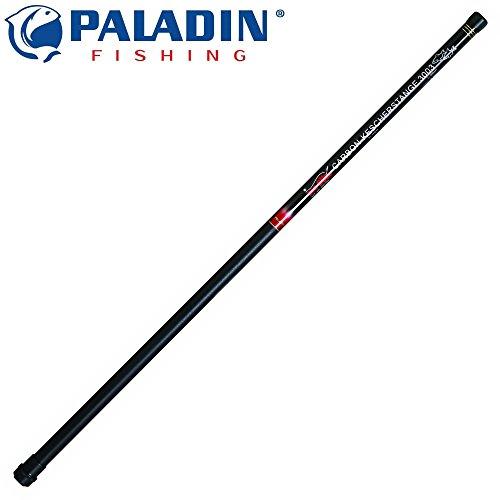Paladin Kescherstange Carbon 2x100cm - Teleskopierbarer Kescherstab für Angelkescher, Stange für Kescher, Stippkescher