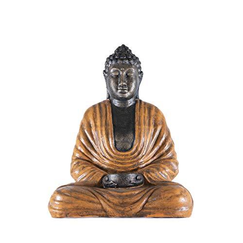 Estatua Buda jardín en Color Naranja | 74 cm de Alto