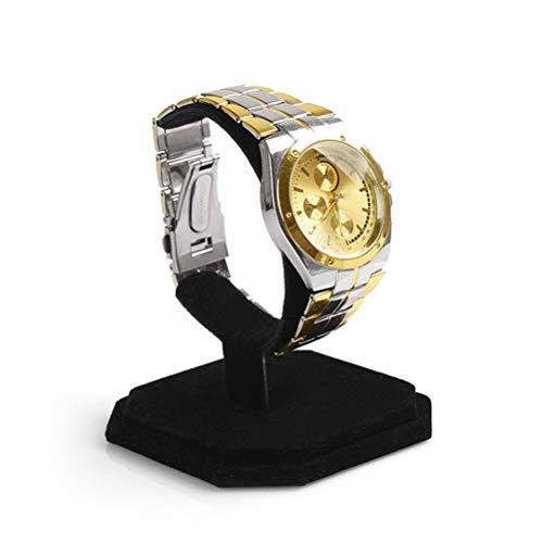 UKCOCO Uhrenhalter Samt C Typ Design Schmuck Armband Armreif Uhr Display Rack Ständer Halter (Schwarz)