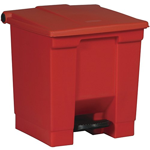 Rubbermaid Commercial Products FG614300RED Poubelle Collecteur à pédale Step-On 30,3 litres H 44 cm Rouge
