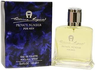 Private Number By Etienne Aigner For Men. Eau De Toilette Spray 3.4 Oz