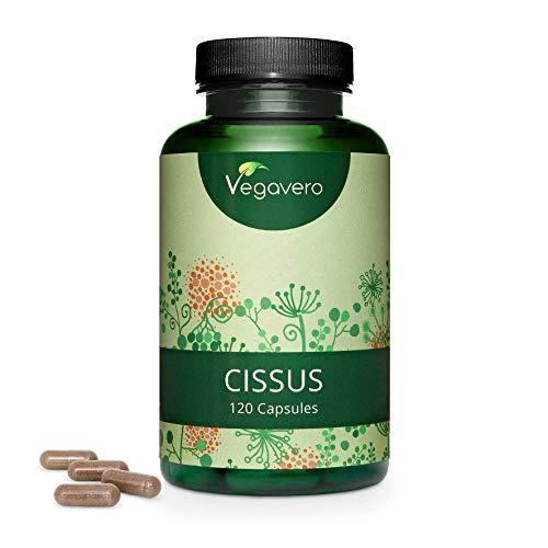 CISSUS QUADRANGULARIS Vegavero ® | 40% KETOSTERONE | 120 Kapseln | Hochdosierter Cissus Extrakt | Ohne Zusatzstoffe und Laborgeprüft | Vegan