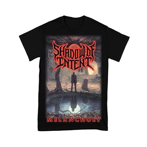 Camiseta de manga corta para hombre Shadow of Intentent Rock Tee para mujer Hiphop Shirts