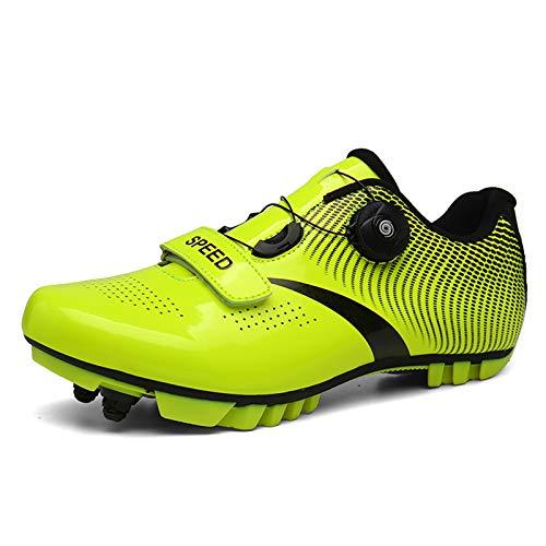 Zapatillas de Ciclismo MTB para Hombres Mujer Zapatillas De Bicicleta de Montaña Zapatillas Ciclismo Carretera Antideslizantes Respirables Calzado de Ciclismo