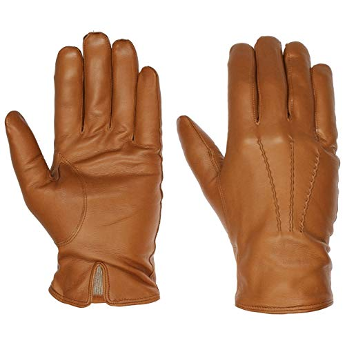 Caridei Classic Nappaleder Herrenhandschuhe Fingerhandschuhe Handschuhe Lederhandschuhe (9 HS - camel)