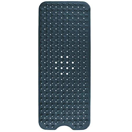 Domowin Badematte, Badewannenmatte mit 200 Saugnäpfen Badewanneneinlage rutschfeste Duschmatte 100 x 40 cm (Schwarz)