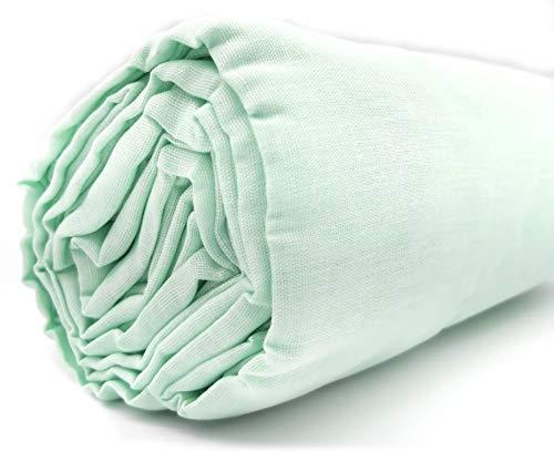 Sábana Bajera Ajustable 100% Algodón Texturas Oro Cama 135 (Verde)