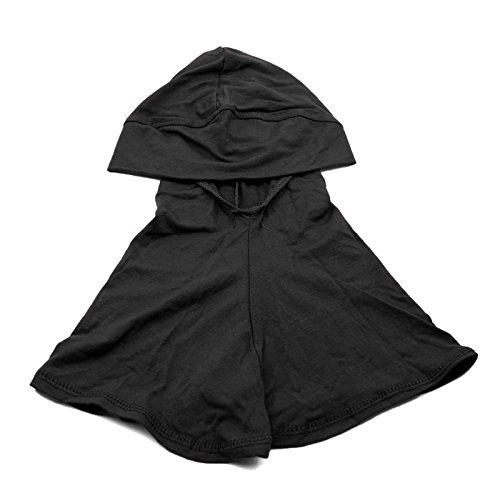 HuntGold - Turbante islamico da donna, sottosciarpa, cuffia, copre il collo e il torace, colore: nero