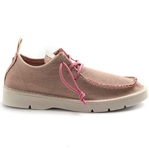 PANCHIC P19 - Zapatos de mujer de lino rosa - P19W18018C1 C30024 - Talla Rosa Size: 38 EU