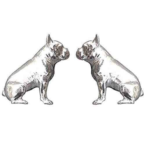 Gemelos de Bulldog Francés, Gemelos, Regalos de Bulldog Francés, Hecho a Mano, en Peltre, por William Sturt