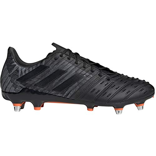 adidas Predator Malice Control SG Cleat - Men's Rugby Core Black/Solar Orange/White