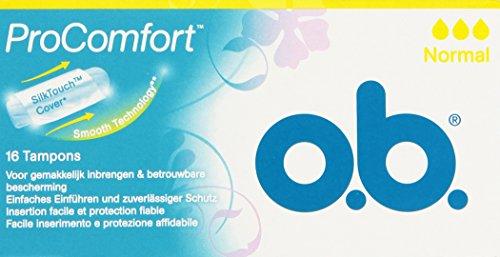 O.B. Tampones ProComfort Normal 16 unidades 16 Unidades 50 g