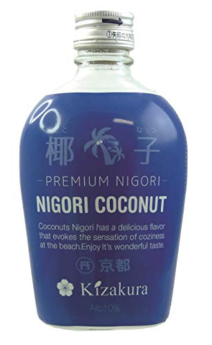[ 300ml ] KIZAKURA Sake Kokosnuss Nigori aus Japan, alc. 10% vol/Nigori Coconut