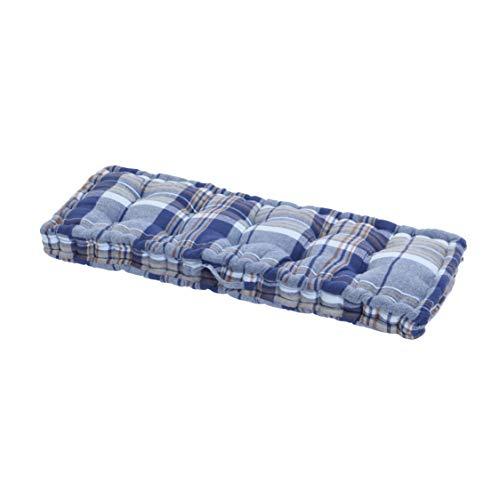 Sierkussen, katoen, wit/donkerblauw, 120 cm x 40 cm