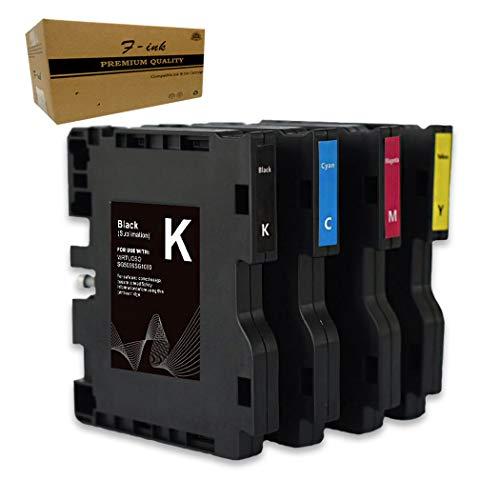 F-ink Sublimationstintenpatronen, kompatibel mit Sawgrass Virtuoso SG500 SG1000 Drucker, 4 Farben (Schwarz, Cyan, Magenta, Gelb) (Version B)