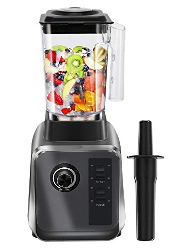Countertop Blender, WantJoin Smoothie Maker Ice Crushing Blender 2000W DIY Speed controlled with 2L Tritan Container High Speed 6 Blades in stainless steel for Ice/Nuts/Hot-Soup/Sauce (Grey)