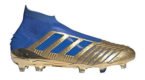 adidas Predator 19+ FG, Bota de fútbol, Gold Metallic-Football Blue-White, Talla 12 UK (47 1/3 EU)