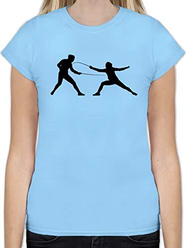 Kampfsport - Fechten - S - Hellblau - L191 - Tailliertes Tshirt für Damen und Frauen T-Shirt