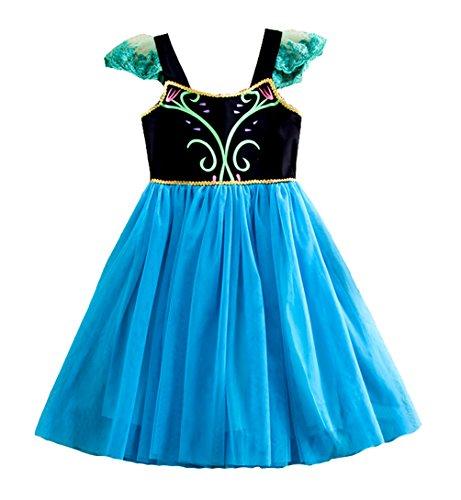 American Vogue Frozen Princess Anna Elsa Inspired Costume Dress (2T)