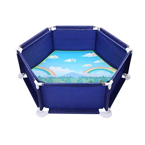 LXDDP Parcs Portables, Jeu renforcé pour bébé avec Jardin Anti-Chute pour Maison Maison Jeux Plage pour Enfants Jouets Plage Tapis Sol Tapis Centre d'activités pour Enfants (balles Non comprises)