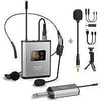 Fansrocck UHF Wireless Lavalier Microphone System