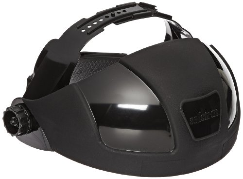 Sellstrom Replacement Crown and Ratchet Headgear for DP4 Series Single Crown Safety Face Shields, Black, S32000