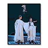 AJleil Puzzle 1000 Piezas Estrellas de televisión Chinas Puzzle 1000 Piezas Juego de Habilidad para Toda la Familia, Colorido Juego de ubicación.50x75cm(20x30inch)