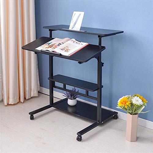 Escritorio de la lapita de la bandeja de cama plegable Tabla de computadora de escritorio portátil ajustable del escritorio de la computadora de escritorio de gran tamaño Girar la mesa de cama de la c