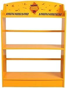 Kidsaw Ltd, JCB Muddy Friends libreria, Legno, Giallo, 24x 24x 80cm