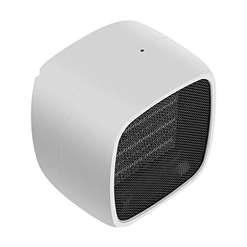 Shirt Luv Mini Portable Desk Electric Space Heater for Home/Office with LED Light Decor White