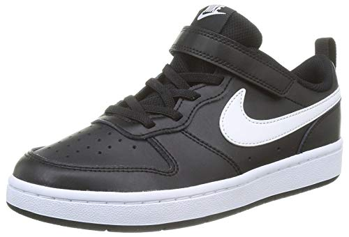 Nike Court Borough Low 2 (PSV) Sneaker, Black/White, 31 EU