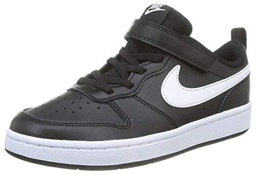 Nike Court Borough Low 2 (GS) Sneaker, Black/White, 39 EU