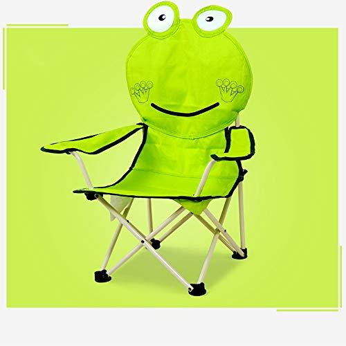 Opklapbare campingstoel voor kinderen met draagtas, voor Outdoor Beach Garden, bekerhouder, ondersteuning 176 lbs,Green