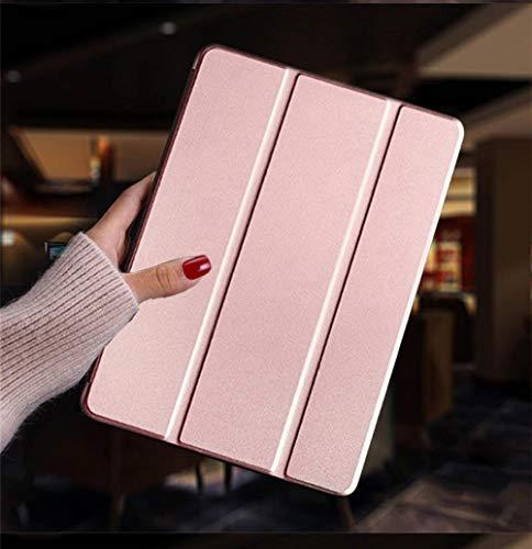Hannuo Funda de Cuero de PU Inteligente para Dormir y Despertar para Samsung Galaxy Tab S2 8.0 Pulgadas T710 T713 T715 T719 SM-T71 Cubierta Trasera Funda Coque-Oro Rosa_China
