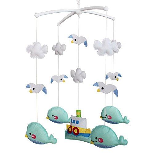 Berceau de lit de bébé rotatif coloré jouets de bébé [Voyage en mer]