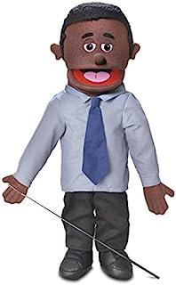 "25"" Calvin, Black Dad / Businessman, Full Body, Ventriloquist Style Puppet"