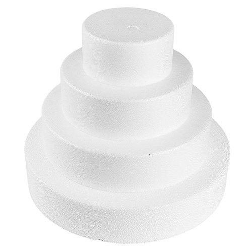 Styropor-Torte, bestehend aus Styropor-Podesten | Torten-Dummy | Kreative Geschenkidee zum Selberbasteln: Styroportorte, Süßigkeitentorte, Dekoration, Kuchen, DIY Bastelidee (4-stöckig)