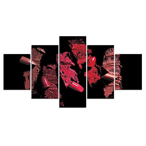 SZQY Poster 5 Teilig Leinwanddrucke Leinwand Kunstdruck Modern Wand Aufhängen Home Dekoration Moderne Gemälde Hd Panel Abstrakter Lippenstift !