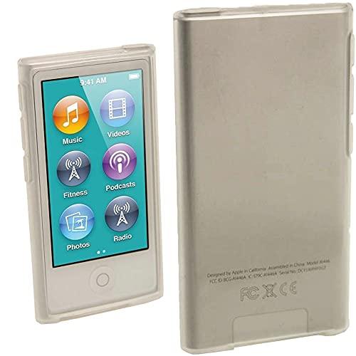 Preisvergleich Produktbild iGadgitz U2009 Glänzend Dauerhafte Kristall Gel Tasche Hülle Schutzhülle und Displayschutzfolie Kompatibel mit Apple iPod Nano 7 Gen - Transparent
