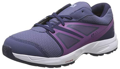 Salomon Sense CSWP Zapatillas Impermeables de Trail Running Senderismo Unisex Niños, Morado Crown Blue Evening Blue Sparkling G, 31 EU