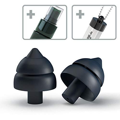 SweetDreams - Ohrstöpsel zum Schlafen, extraweich – gegen Schnarchen – wiederverwendbarer Gehörschutz für die Nacht – Set mit Reinigungsspray