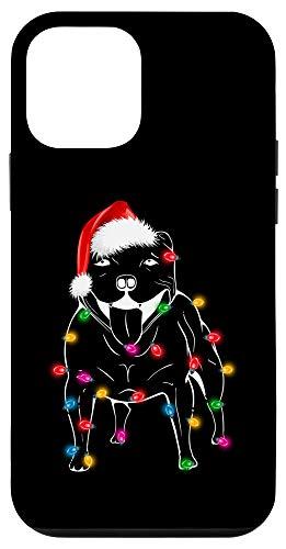 iPhone 12 mini Staffordshire Bull Terrier Christmas Lights Design Gift Case
