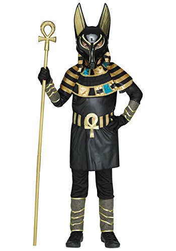 Fun World Disfraz infantil de Anubis Negro - Medium